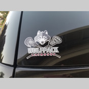 Wolfpack Lacrosse Car Decal